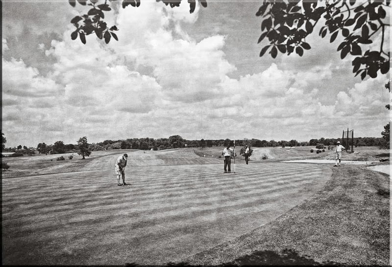 The 2nd Green (3rd tee box to right)  1959